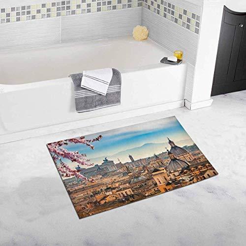 Kanaite Schöne europäische Stadtansicht von Rom von Castel Sant 'Angelo Decor rutschfeste Bad Teppich saugfähige Duschmatte Badematten für die Badewanne