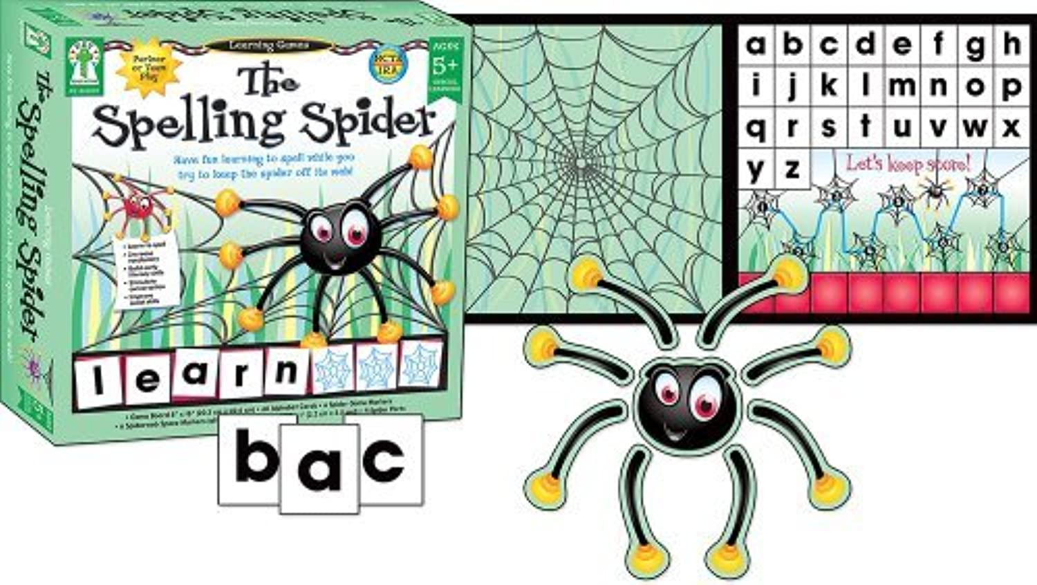 The Spelling Spider Educational Board Game by Key Education