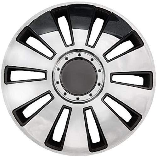 Petex RB53151 Hjulbeslag dubbellackad ABS-plast i låda krom/silver – set med 3 14 inches