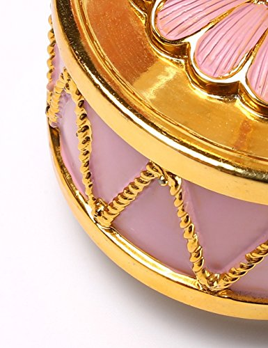 HoneyGifts Luxury Carousel Music Box, Happy Pony Design, for Kids (Pink & Gold) 3