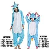 Czc-dp Cartoon Kostüme Winter-Tier-Strampler Kids Pyjamas Nachtwäsche for Frauen Erwachsener Baby-Kleidung Jungen Nachtwäsche Overalls (Farbe: Blau tianma, Größe: 10)