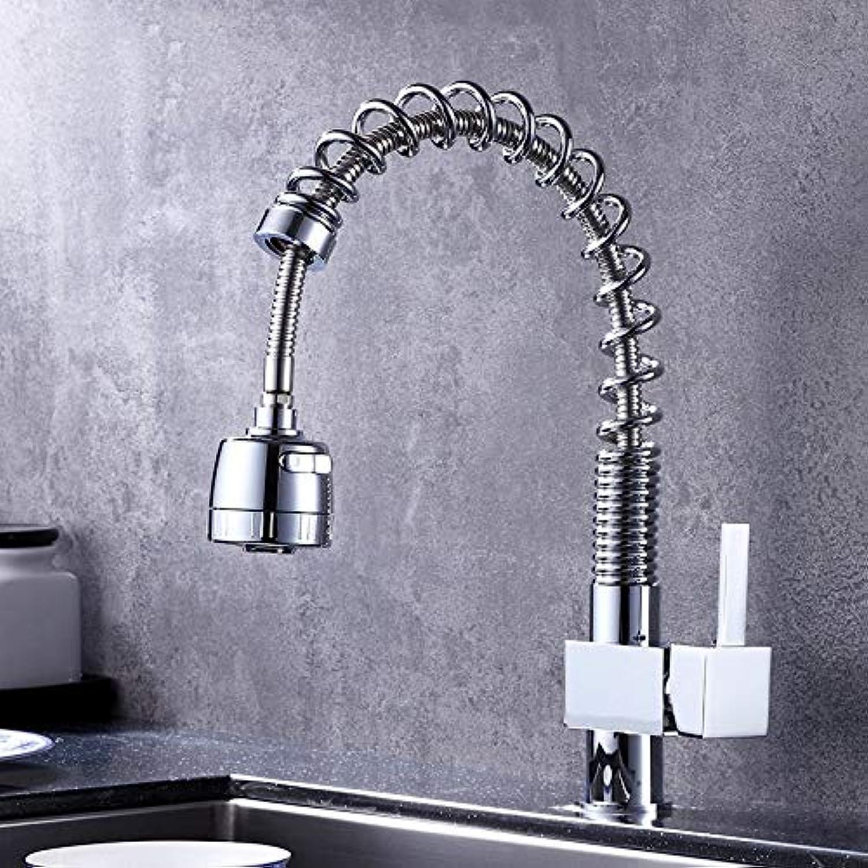 ROTOOY Wasserhhne Wasserhahn Küchenspüle Teller Ziehen Wasserhahn Kupfer Frühling Küchenhahn Heien Und Kalten Waschbecken Wasserhahn Waschbecken Wasserhahn
