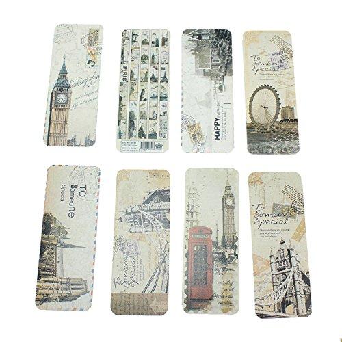 30x Vintage Bookmark Lesezeichen Europe Dekor
