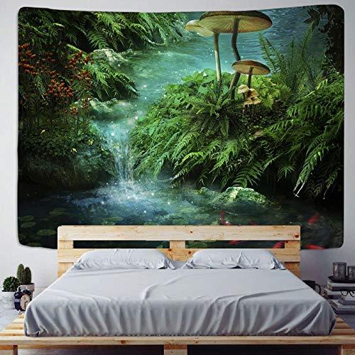 Dream forest tapiz seta colgante de pared playa picnic alfombra tienda de campaña estera para dormir decoración del hogar sábana tela de pared 150x200cm / 59x79inchch
