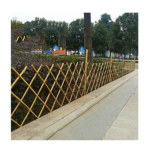 LJIANW Valla De Madera, Ajustable Valla De Bambú, Proteger Las Plantas Red De Partición Material De Bambú Robusto, Balcón Red Segura Fácil De Instalar por Jardín Césped