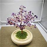 WERWER Árbol Creativo de Cristal Natural Consigue una decoración Rica en el árbol para la decoración del hogar Artesanía (Color : Light Green)