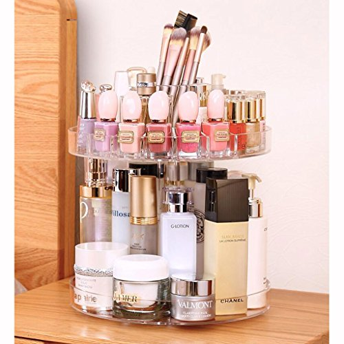 Coffrets de maquillage Boîte de Rangement cosmétique Rotatable Dresser Bureau cosmétique Soins de la Peau Pinceau de Maquillage Boîte de Rangement étagère Tube de Rangement
