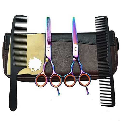 CheungLee - Tijeras de peluquería profesional con tornillo ajustable para hombres y mujeres