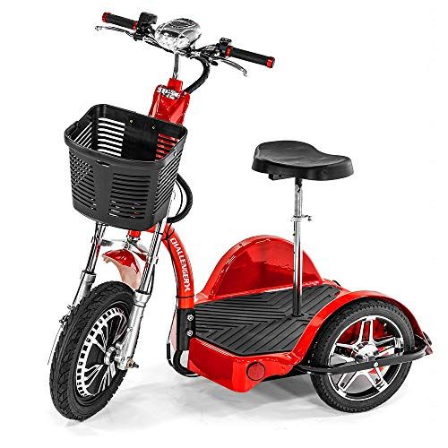 Challenger X Fast Electric Mobility Scooter, Ride Standing or Sitting, Powerful Motor, 18 mph