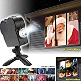 Wonder Christmas Projector - Display Stunning Holiday Movies in Your Window - 12 Short Movies Included