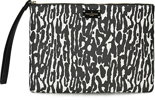 Pauls Boutique, Stephanie, dames handtassen, clutches, onderarmzakken, luipaard, zwart wit, 29,5 x 22,5 x 1,5 cm (B x H x D)