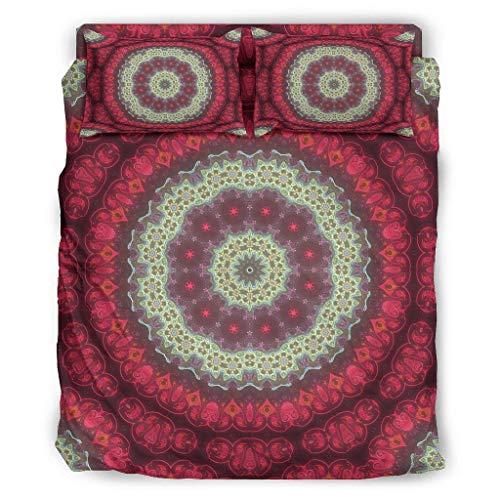 Sunlitrend Juego de ropa de cama de 4 piezas, calidad prémium, resistente a la luz, para el dormitorio en casa white2, 175 x 218 cm