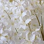 artificial hyacinth flowers bouquet silk flowers home garden fence restaurant banquet hotel wedding simulation white decoration (white)