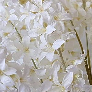 artificial hyacinth flowers bouquet silk flowers home garden fence restaurant banquet hotel wedding simulation white decoration (white) silk flower arrangements