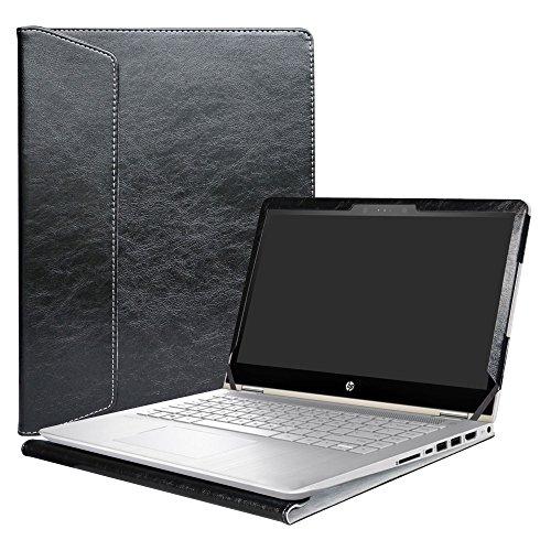 """Alapmk Specialmente Progettato PU Custodia Protettiva in Pelle per 14"""" HP Pavilion x360 14 14-baXXX/ASUS ImagineBook MJ401TA Series Notebook,Nero"""