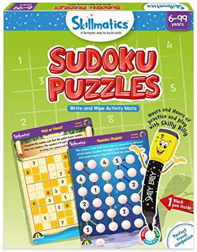 Skillmatics Educational Game: Sudoku Puzzles (6-99 Years), Erasable and Reusable Activity Mats, Gifts for Boys and Girls 6, 7, 8, 9, Years and Up, Travel Fr...