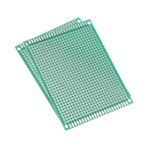 sourcing map 7x9cm universel simple face circuit imprimé souder DIY 1pcs 1.6mm épaisseur vert