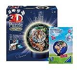 Ravensburger 11248 - Puzzle 3D, diseño de puzle de puzle y bola del mundo en 3D, a partir de 6 años