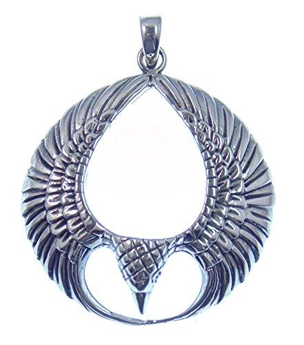 Silber Anhänger Adler, Kosmischer Adler, Symbol für die Verbindung der Kräfte von Himmel und Erde, 925 Sterling Silber, Versand innerhalb 24 Stunden !!!