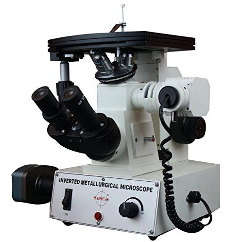 Radical 600x Inverted Metallurgical Non Ferrous Inspection Microscope w 10Mpix USB Camera