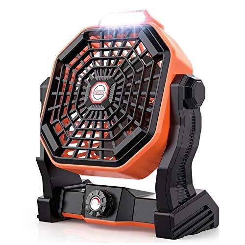 Mifanstech X20 卓上扇風機 デスクファン 強風 USB充電式扇風機 小型 携帯扇風機 キャンピングファン 無段階風量調節 270°回転 低騒音 省エネ サーキュレーター LEDライト付き 25時間連続使用 熱中症/夏対策 テーブルファン 室内/アウトドア/キャンプ適用
