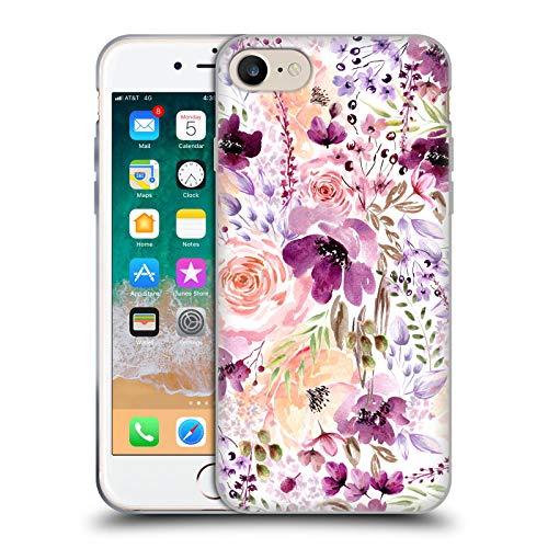 Head Case Designs Licenciado Oficialmente Anis Illustration Caos Floral Bombacha Carcasa de Gel de Silicona Compatible con Apple iPhone 7 / iPhone 8 / iPhone SE 2020