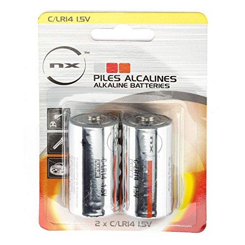 NX - Pile alcaline pour LR14 - C NX Blister x2 - 1,5V 9,3Ah
