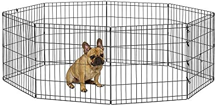 New World Pet Products B550-24 Foldable Exercise Pet Playpen, Black, Small/24