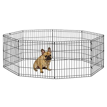 New World Pet Products B550-24 Foldable Exercise Pet Playpen Black Small/24 Inch x 24 Inch