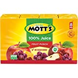 Mott's 100% Fruit Punch Juice, 6.75 Fluid Ounce Box, 8 Count (Pack of 32)
