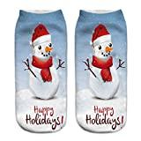O-C 3D Print Snowman Pattern Unisex Stocking Polyester Expressions Sock