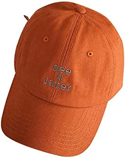 Hats Hat Female Summer Wild Cap Student Black Baseball Cap Fashion (Color : Orange, Size : F)