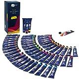 Artina Acrylfarben Set Crylic 48 Tuben je 22ml Künstlerfarben Malerei Acryl Farben Set - Premium Acryl Farbenset für Malen auf Keilrahmen