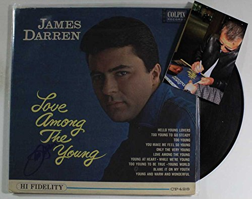 James Darren Signed Autographed 'Love Among the Young' Record Album w/ Proof Photo