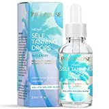 Self-Tanning Drops – Professional Self Tanner for Face and Body – Hello Golden Glow Medium Self-Tanning Serum for Natural Look – Vegan-Friendly Self Tanner Drops – 1fl. oz