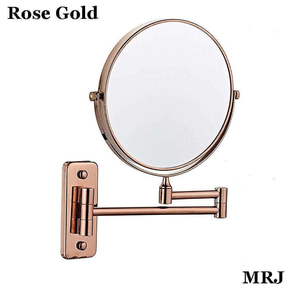条件付きかかわらず運命的なバスルームミラー壁掛け化粧鏡8インチ両面5倍360度。ミラーを構成する化粧品を剃る折りたたみバスルームを拡張するスイベル