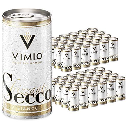 48 x Vimio Secco Frizzante Bianco Perlwein Weiß 10,5% vol. 200 ml Dose