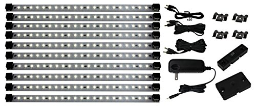 Pro Series 21 LED Super Deluxe 10 panel Under Cabinet Lighting Kit with Dimmer Switches, Warm White (see also #4829 and 4863) -