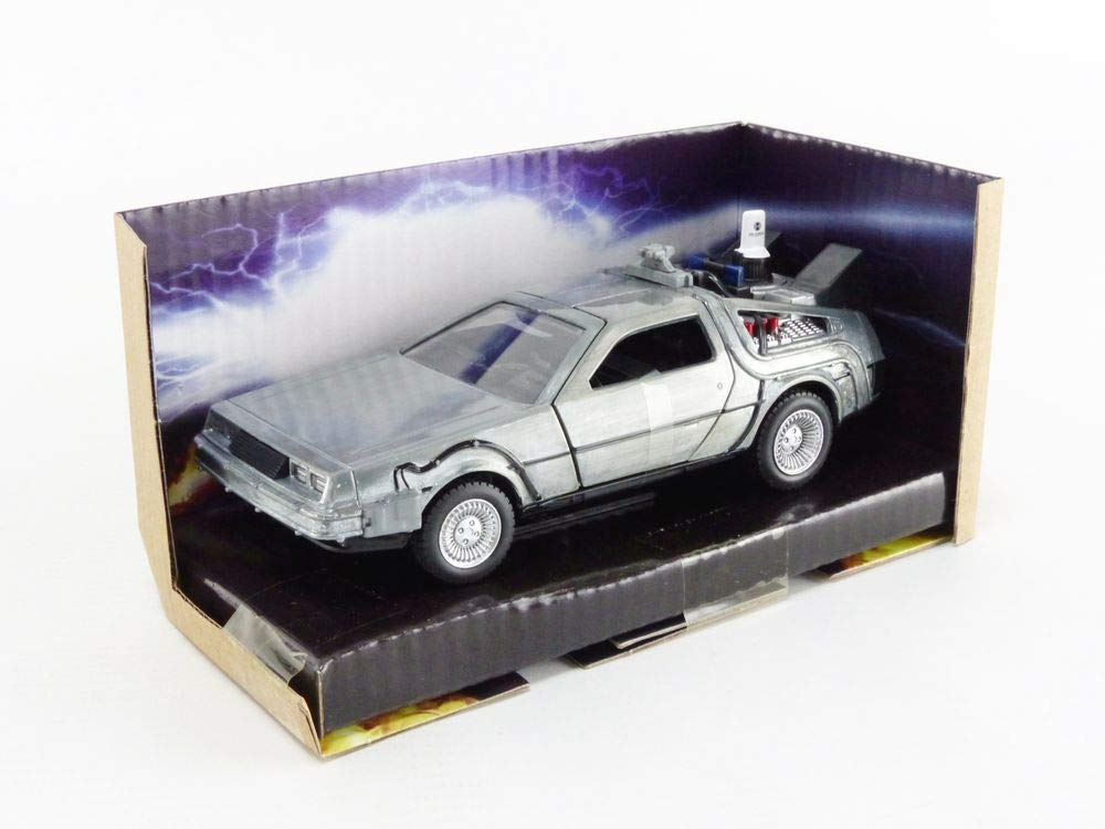 Delorean Dmc Time Machine Silver Back To The Future Part Ii 1989 Movie Hollywood Rides Series 1 32 Diecast Model Car By Jada 30541 Amazon Com Au Toys Games