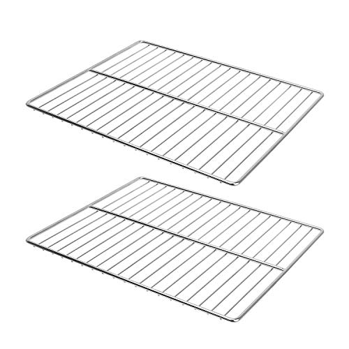 LANEJOY Barbecue Wire Mesh, Stainless Steel BBQ Grill Mat, Multifunction Grill Cooking Grid Grate 2 Pack