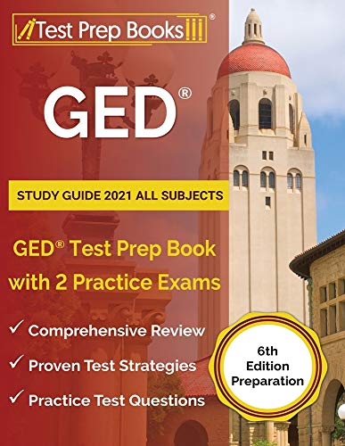 GED Study Guide 2021 All Subjects: GED Test Prep Book with 2...