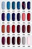 LOVECRAZY - Kit de Esmaltes de Uñas en Gel Semipermanente, 10 Colores de Esmaltes y Top Coat Base Coat