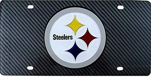 Steelers Carbon Fiber Design Laser License Plate