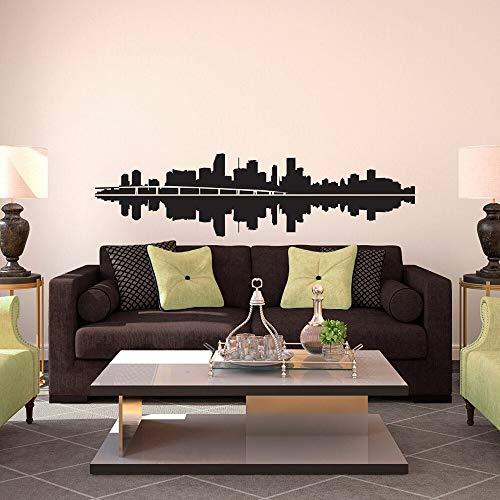 Ciudad de Miami Skyline contorno vinilo pared pegatina papel pintado DIY arte de pared decoración hogar sala de juegos decoración