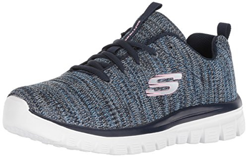"Skechers - Scarpe da ginnastica da donna ""Graceful-Twisted Fortune"", Blu (Blu mare), 37 EU"