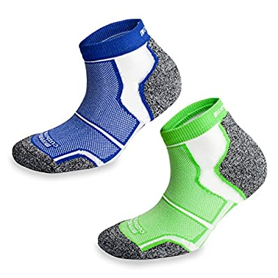 2 Pairs More Mile New York Cushioned Coolmax Sports Running Socks