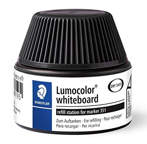 Staedtler 488 51-9 Tinte für Marker Lumocolor refill station, 30 ml, 5x Nachfüllen, schwarz
