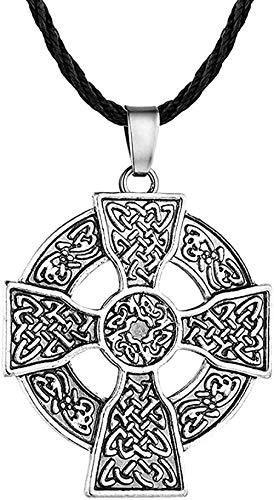 LKLFC Collar para Mujer Collar para Hombre Colgante Collar con Colgante armenio en Plata Antigua Collares étnicos Joyas de Bronce delicadas para Hombres Collar con Colgante Regalo para niñas niños