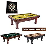 Barrington Springdale 90' Claw Leg Billiard Table Set with Cues, Rack, Balls, Brush, and Chalk (23 Pieces)