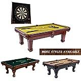 Barrington Claremont Slate Billiard Table Set: 100-Inch Wooden Game Room Pool Table - Premium Heavy...